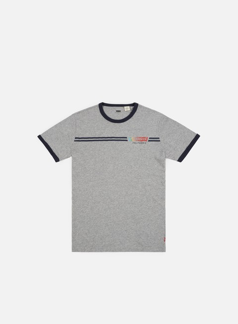 t shirt levi s housemark ringer t shirt midtone heather grey dress blue