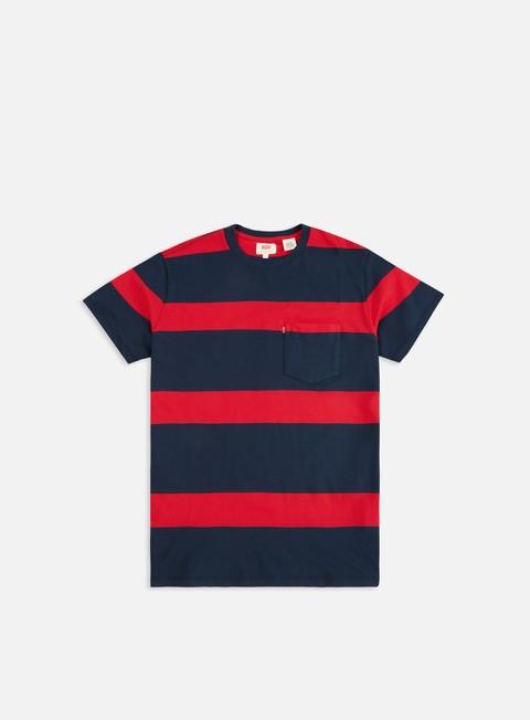 Outlet e Saldi T-shirt a Manica Corta Levi's Set In Sunset Pocket T-shirt