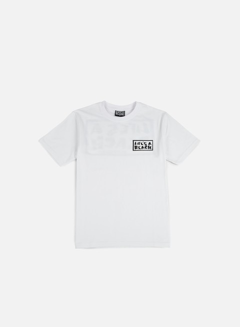 t shirt life s a beach logo t shirt white