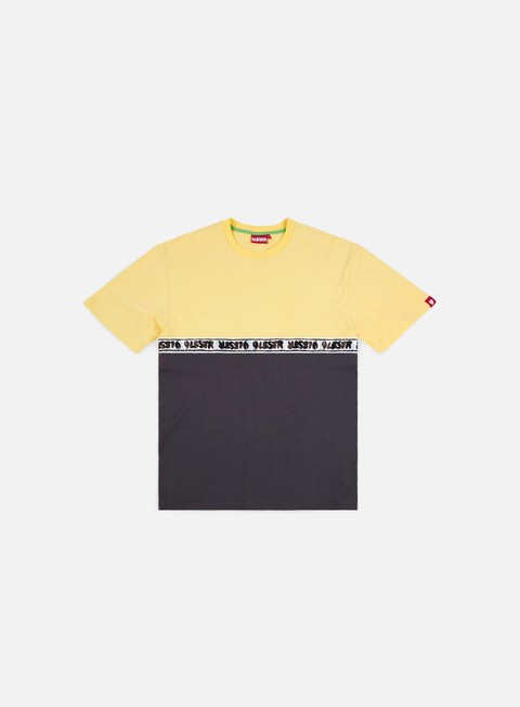 t shirt lobster tape t shirt yellow dark grey