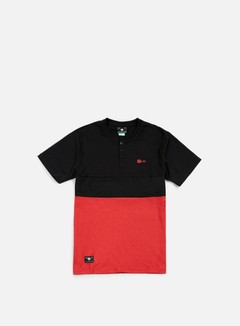 LRG - Systematic Henley T-shirt, Black/Red 1