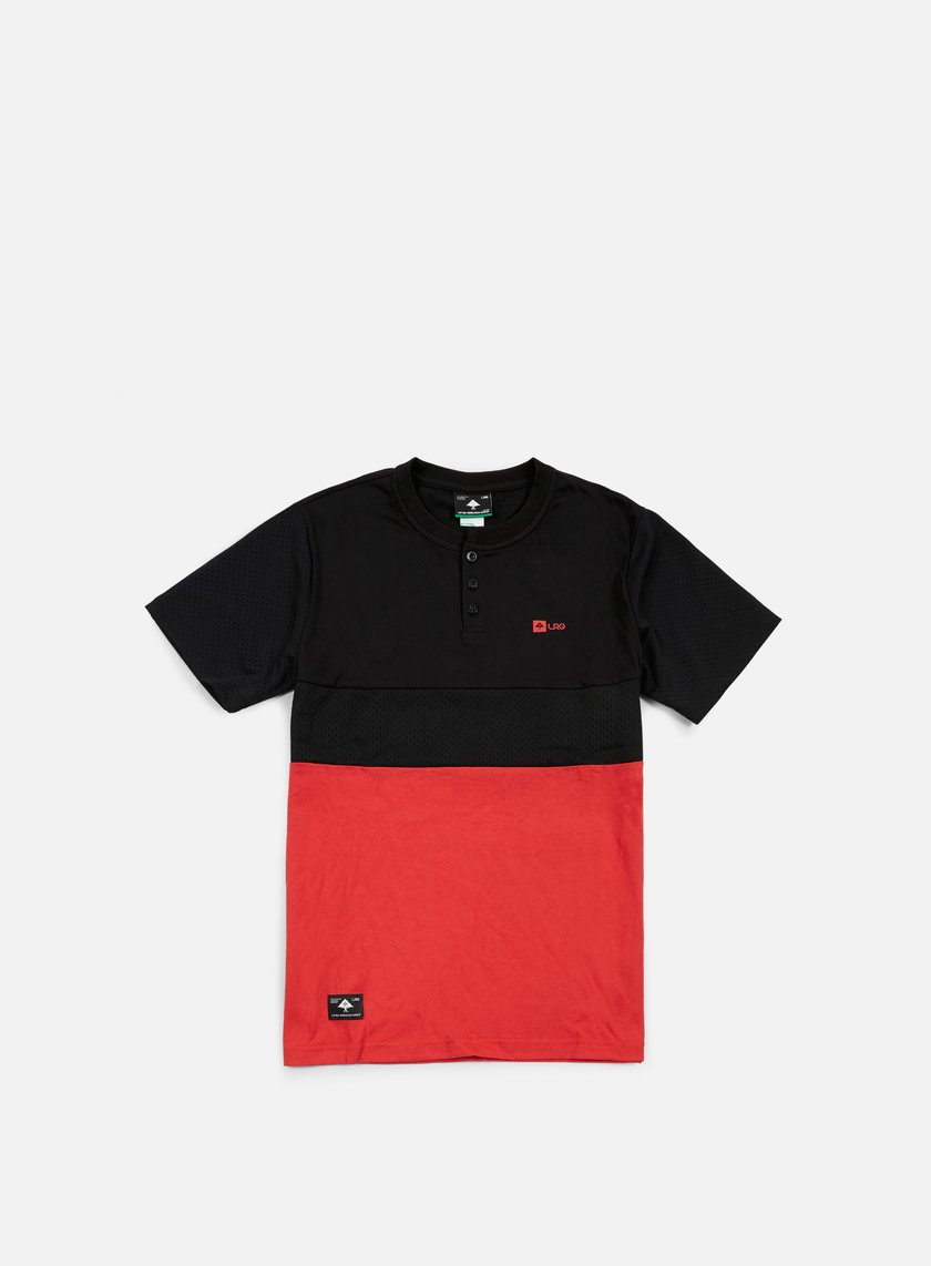 LRG - Systematic Henley T-shirt, Black/Red