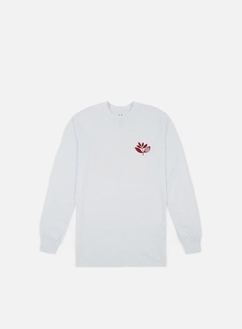 Outlet e Saldi T-shirt a Manica Lunga Magenta Classic LS T-shirt