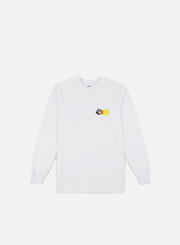 Magenta Panel LS T-shirt