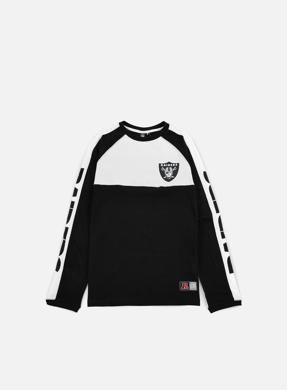 Majestic Danus Cut & Sew LS T-shirt Oakland Raiders