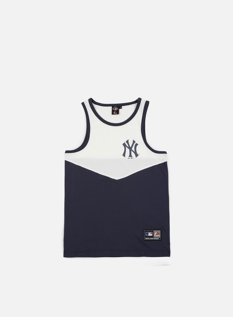 t shirt majestic edger chevron vest ny yankees white