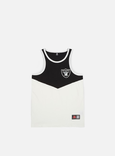 Outlet e Saldi Canotte Majestic Edger Chevron Vest Oakland Raiders