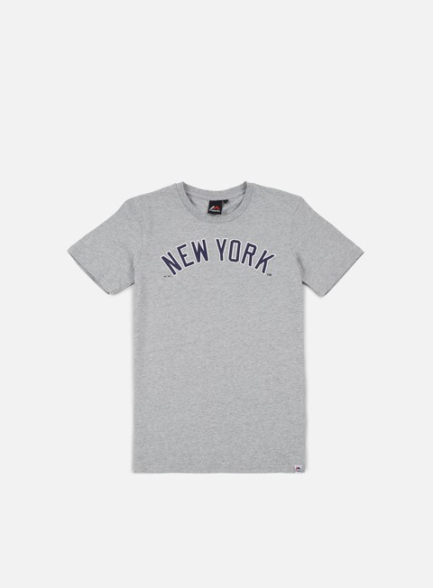 Outlet e Saldi T-shirt a Manica Corta Majestic Grey Marl Road T-shirt NY Yankees