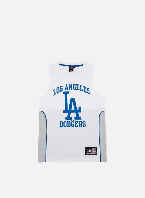 Outlet e Saldi Canotte Majestic Jonser Poly Mesh Singlet LA Dodgers