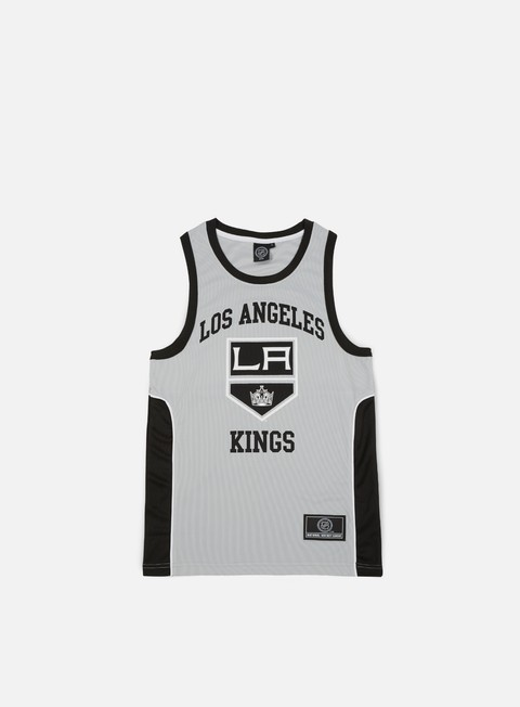 t shirt majestic jonser poly mesh singlet la kings mid grey