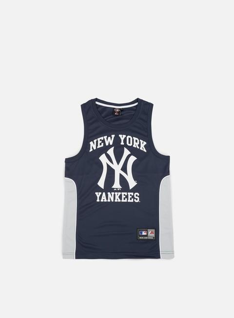 t shirt majestic jonser poly mesh singlet ny yankees navy