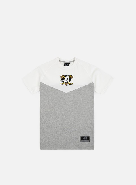 t shirt majestic klass long line t shirt anhaeim ducks silver marl