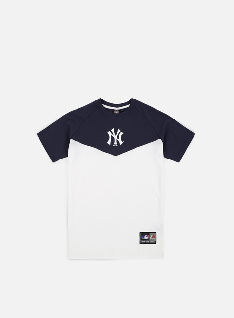 t shirt majestic klass longline t shirt ny yankees white