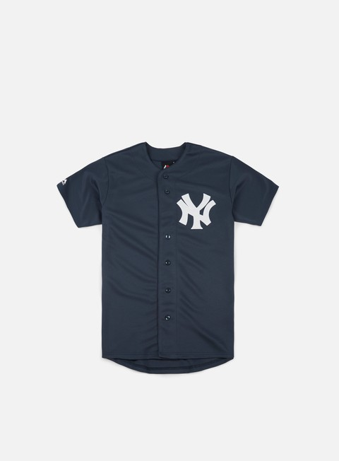 Sale Outlet Short Sleeve T-shirts Majestic MLB Replica Jersey NY Yankees