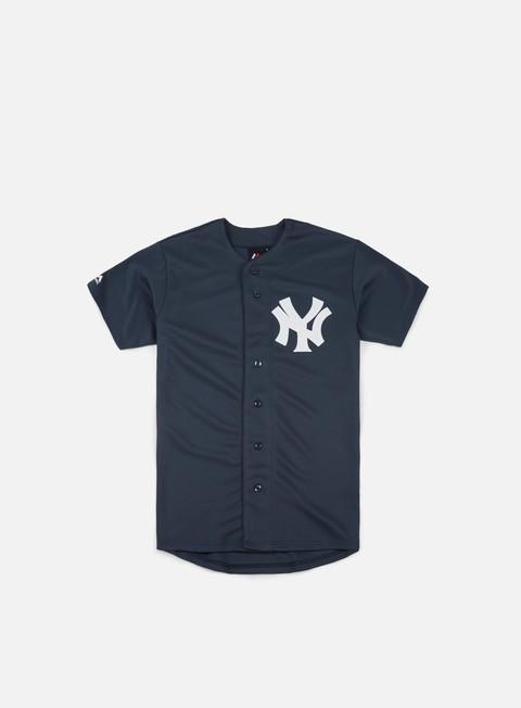 Outlet e Saldi T-shirt a manica corta Majestic MLB Replica Jersey NY Yankees