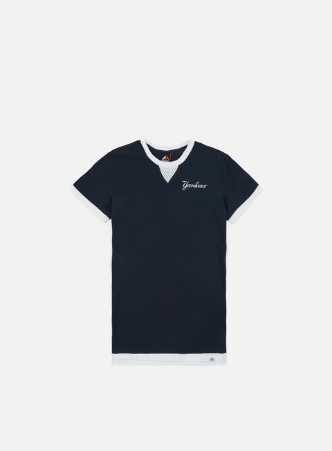 Outlet e Saldi T-shirt a manica corta Majestic Mock Layer T-shirt NY Yankees