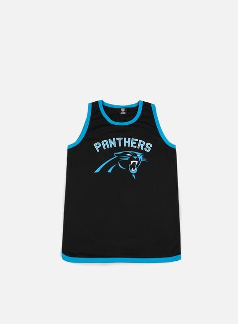 Outlet e Saldi Canotte Majestic Poly Graphic Vest Carolina Panthers