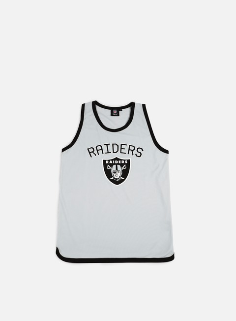 Outlet e Saldi Canotte Majestic Poly Graphic Vest Oakland Raiders