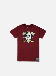 Majestic - Prism Large Logo T-shirt Anaheim Ducks, Dark Plum 1