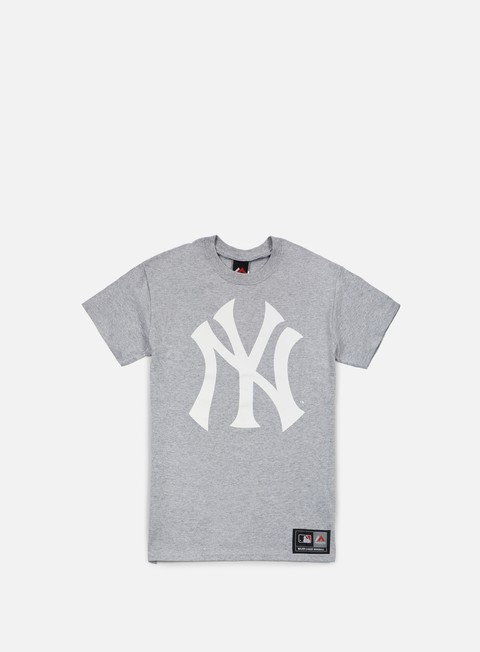 t shirt majestic prism large logo t shirt ny yankees heather grey