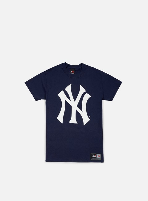 Sale Outlet Short Sleeve T-shirts Majestic Prism Large Logo T-shirt NY Yankees