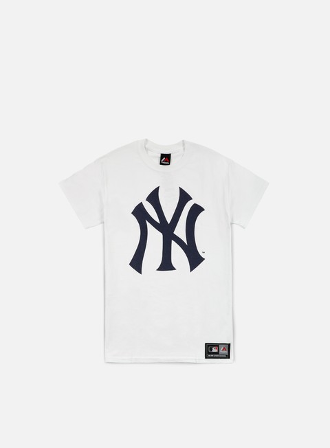 t shirt majestic prism large logo t shirt ny yankees white