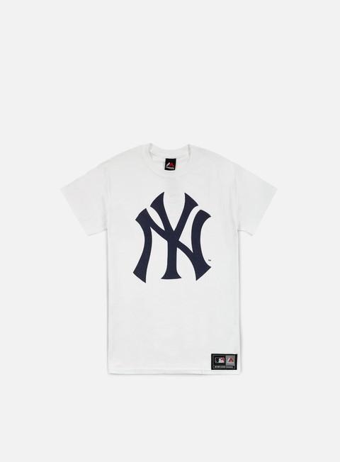 Outlet e Saldi T-shirt a manica corta Majestic Prism Large Logo T-shirt NY Yankees
