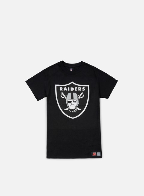 t shirt majestic prism large logo t shirt oakland raiders black