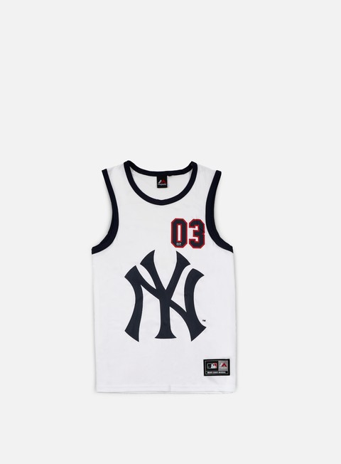 t shirt majestic renfew mesh vest ny yankees white