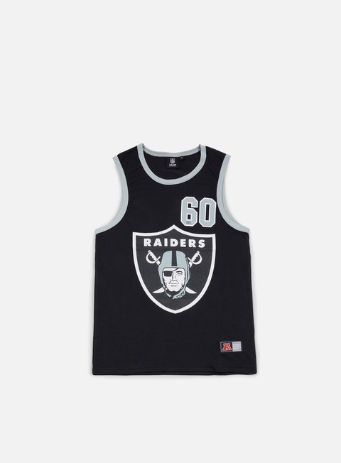 t shirt majestic renfew mesh vest oakland raiders black