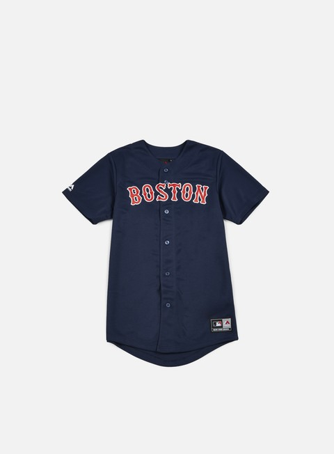 Outlet e Saldi T-shirt a Manica Corta Majestic Replica Jersey Boston Red Sox