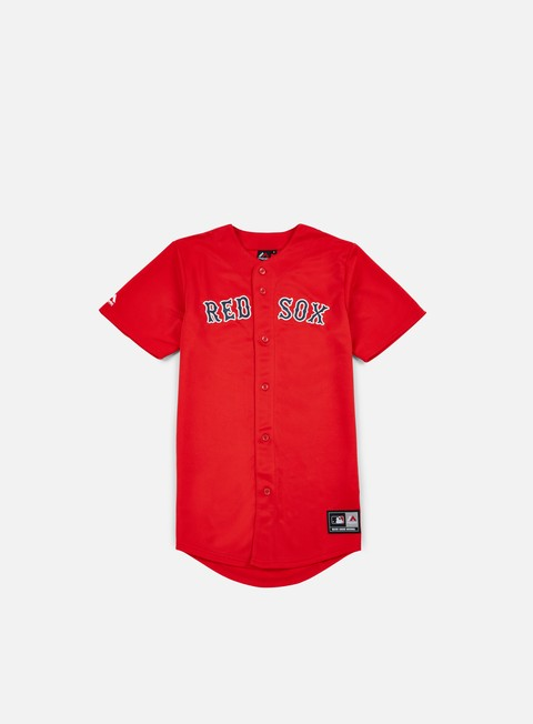 t shirt majestic replica jersey boston red sox red