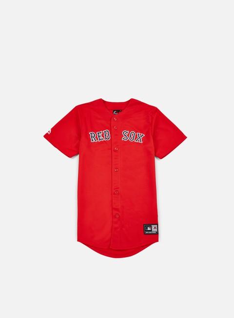 Outlet e Saldi T-shirt a manica corta Majestic Replica Jersey Boston Red Sox