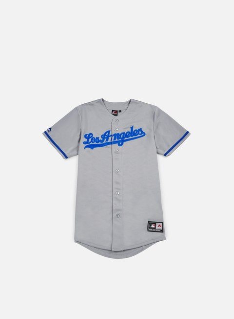 t shirt majestic replica jersey la dodgers road grey