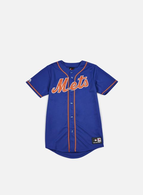 Outlet e Saldi T-shirt a Manica Corta Majestic Replica Jersey NY Mets