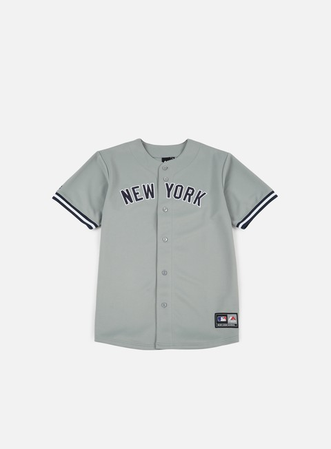 t shirt majestic replica jersey ny yankees road grey