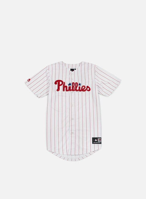 Outlet e Saldi T-shirt a Manica Corta Majestic Replica Jersey Philadelphia Phillies