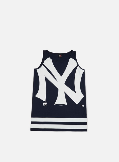 Outlet e Saldi Canotte Majestic Rewar Graphic Vest NY Yankees