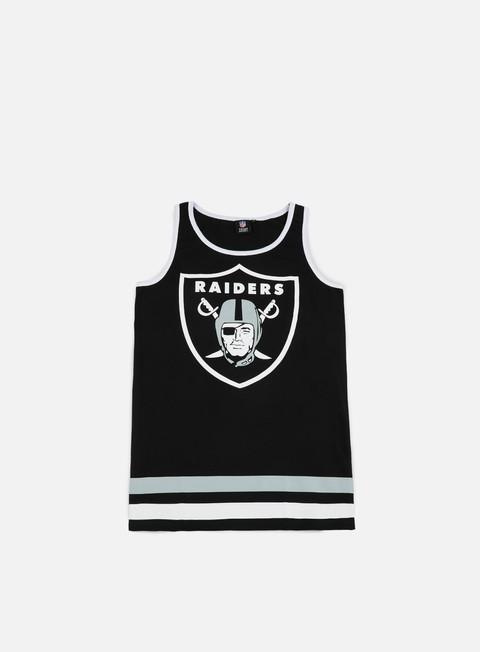 Sport Team T-shirts Majestic Rewar Graphic Vest Oakland Raiders