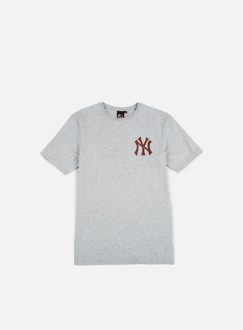 T-shirt a Manica Corta Majestic Tovey Longline Logo T-shirt NY Yankees