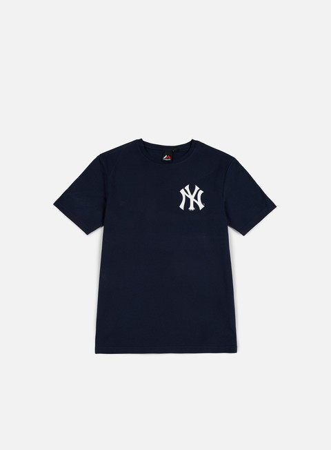 t shirt majestic tovey longline logo t shirt ny yankees navy