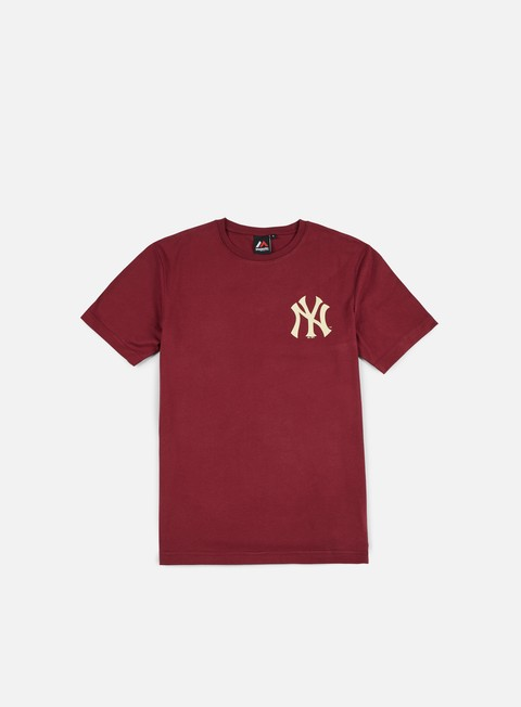 t shirt majestic tovey longline logo t shirt ny yankees red