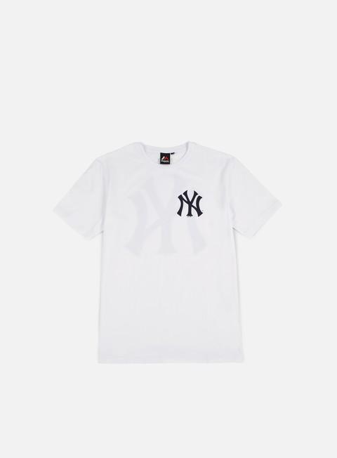 t shirt majestic tovey longline logo t shirt ny yankees white