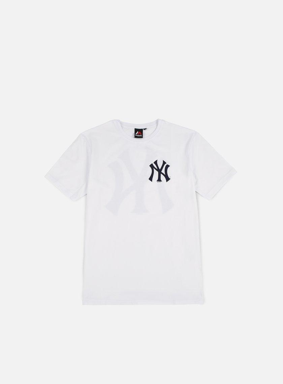 MAJESTIC Tovey Longline Logo T-shirt NY Yankees € 20 Short Sleeve T ... ff2ad03ec9c