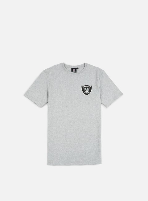 Short Sleeve T-shirts Majestic Tovey Longline Logo T-shirt Oakland Raiders
