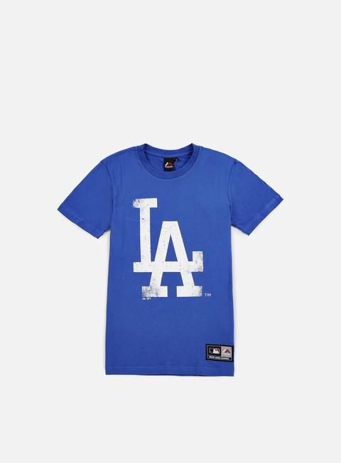 Outlet e Saldi T-shirt a Manica Corta Majestic Valen Large Logo T-shirt LA Dodgers