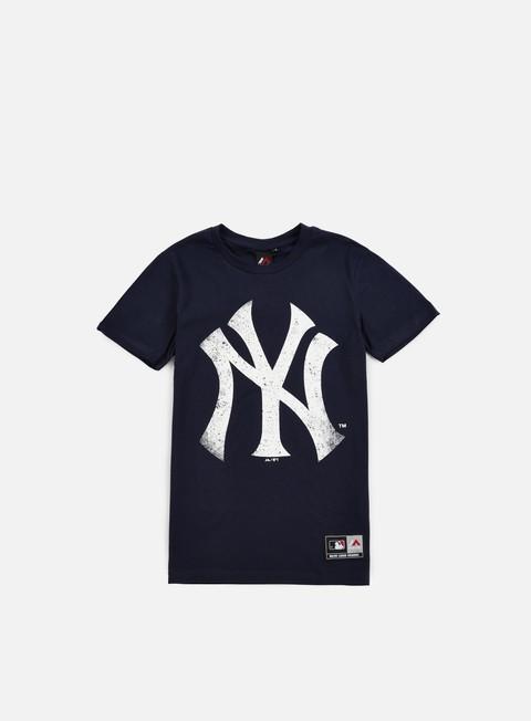 Outlet e Saldi T-shirt a manica corta Majestic Valen Large Logo T-shirt NY Yankees