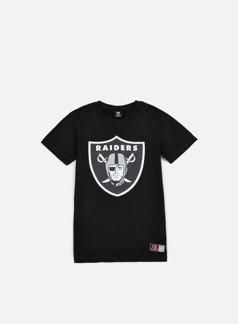 Outlet e Saldi T-shirt a Manica Corta Majestic Valen Large Logo T-shirt Oakland Raiders