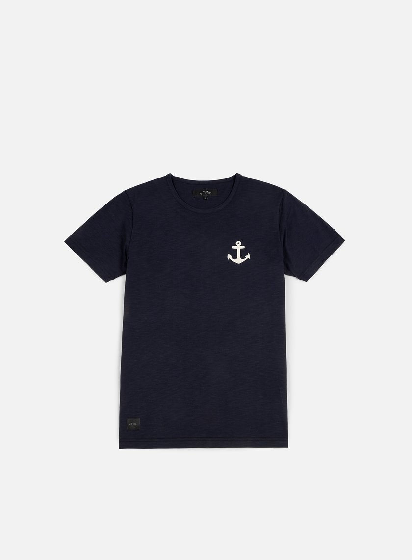 Makia - Anchor T-shirt, Indigo