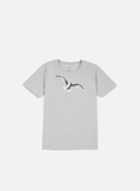 t shirt makia gull t shirt grey